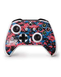 LA Clippers Digi Camo Xbox One S Controller Skin