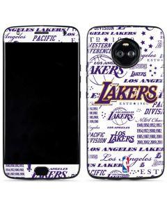 LA Lakers Historic Blast Moto X4 Skin