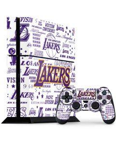 LA Lakers Historic Blast PS4 Console and Controller Bundle Skin