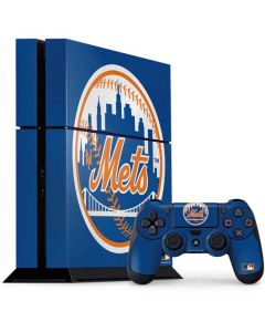 Large Vintage Mets PS4 Console and Controller Bundle Skin