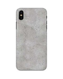 Light Grey Concrete iPhone X Lite Case