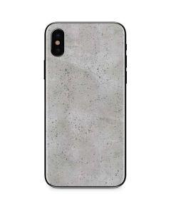Light Grey Concrete iPhone X Skin
