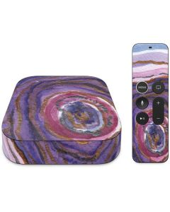 Lilac Watercolor Geode Apple TV Skin