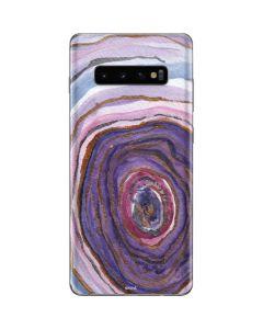 Lilac Watercolor Geode Galaxy S10 Plus Skin