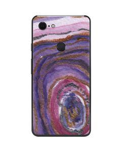 Lilac Watercolor Geode Google Pixel 3 XL Skin