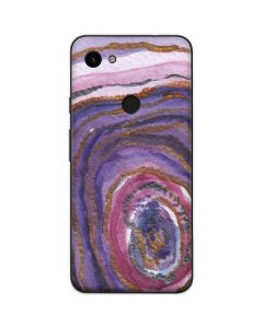 Lilac Watercolor Geode Google Pixel 3a Skin