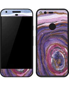Lilac Watercolor Geode Google Pixel Skin