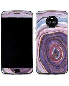 Lilac Watercolor Geode Moto X4 Skin