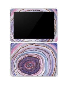 Lilac Watercolor Geode Surface Go Skin