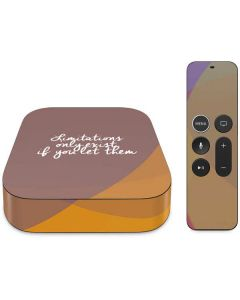 Limitations Only Exist If You Let Them Apple TV Skin