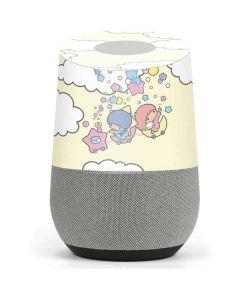 Little Twin Stars Floating Google Home Skin