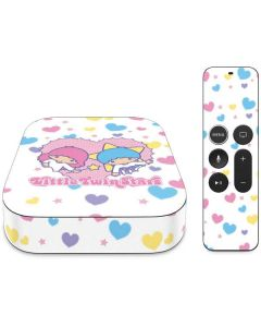 Little Twin Stars Hearts Apple TV Skin