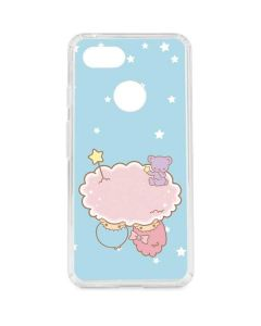Little Twin Stars Puffy Cloud Google Pixel 3 Clear Case