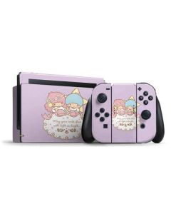 Little Twin Stars Shine Nintendo Switch Bundle Skin