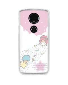 Little Twin Stars Wish Upon A Star Moto E5 Plus Clear Case