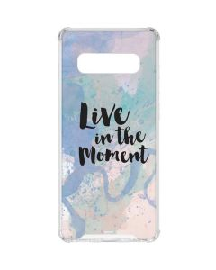 Live In The Moment Pastel Galaxy S10 Clear Case