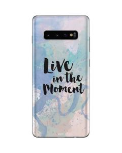 Live In The Moment Pastel Galaxy S10 Plus Skin