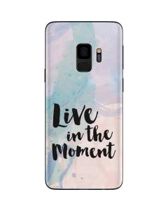 Live In The Moment Pastel Galaxy S9 Skin