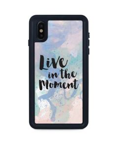 Live In The Moment Pastel iPhone XS Max Waterproof Case
