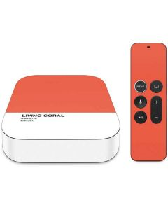 Living Coral Apple TV Skin