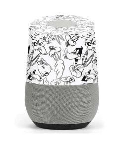 Looney Squad Black and White Grid Google Home Skin