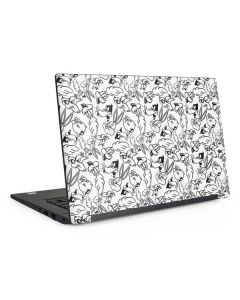 Looney Squad Black and White Grid Dell Latitude Skin