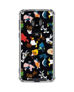 Looney Tunes Identity Pattern Moto G7 Play Clear Case