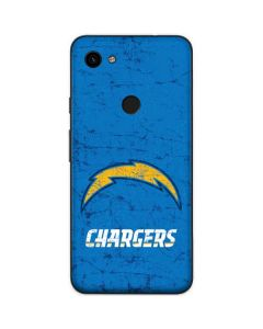 Los Angeles Chargers - Alternate Distressed Google Pixel 3a Skin