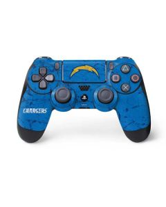 Los Angeles Chargers - Alternate Distressed PS4 Controller Skin