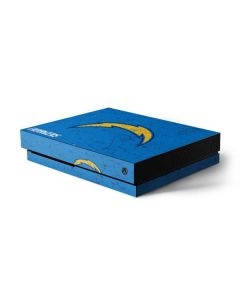 Los Angeles Chargers - Alternate Distressed Xbox One X Console Skin