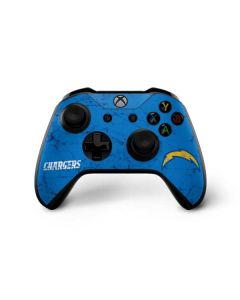 Los Angeles Chargers - Alternate Distressed Xbox One X Controller Skin