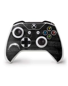 Los Angeles Chargers Black & White Xbox One S Controller Skin