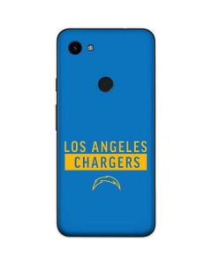 Los Angeles Chargers Blue Performance Series Google Pixel 3a Skin