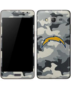 Los Angeles Chargers Camo Galaxy Grand Prime Skin