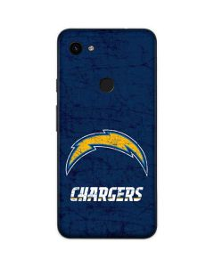 Los Angeles Chargers Distressed Google Pixel 3a Skin