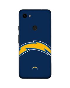 Los Angeles Chargers Large Logo Google Pixel 3a Skin