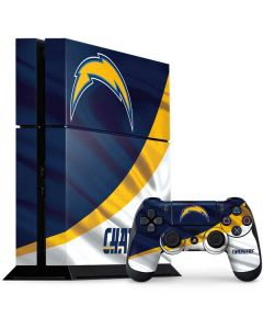 Los Angeles Chargers PS4 Console and Controller Bundle Skin