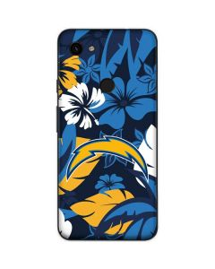 Los Angeles Chargers Tropical Print Google Pixel 3a Skin