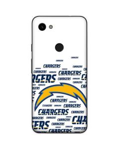 Los Angeles Chargers White Blast Google Pixel 3a Skin