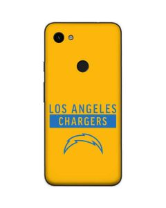 Los Angeles Chargers Yellow Performance Series Google Pixel 3a Skin