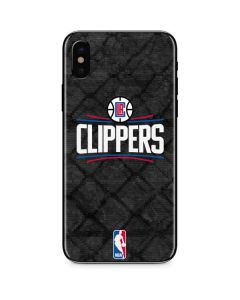 Los Angeles Clippers Black Rust iPhone XS Max Skin