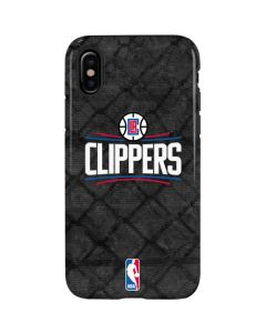 Los Angeles Clippers Black Rust iPhone XS Pro Case