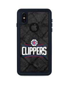 Los Angeles Clippers Black Rust iPhone XS Waterproof Case