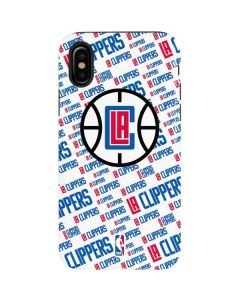 Los Angeles Clippers Blast Text iPhone XS Pro Case
