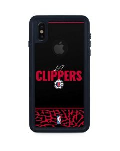 Los Angeles Clippers Elephant Print iPhone XS Waterproof Case