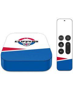 Los Angeles Clippers Split Apple TV Skin
