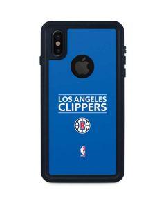 Los Angeles Clippers Standard - Blue iPhone XS Waterproof Case