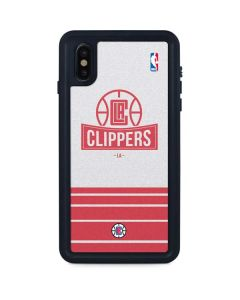 Los Angeles Clippers Static iPhone XS Max Waterproof Case