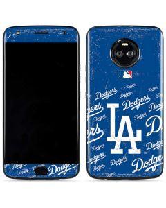 Los Angeles Dodgers - Cap Logo Blast Moto X4 Skin