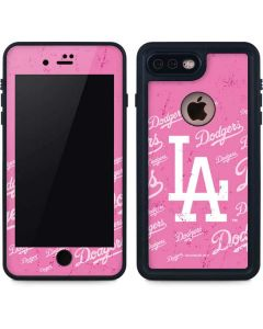 Los Angeles Dodgers - Pink Cap Logo Blast iPhone 8 Plus Waterproof Case